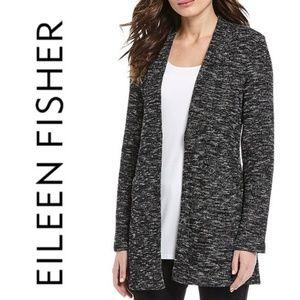 Eileen Fisher 100% Cotton Tweed Cardigan